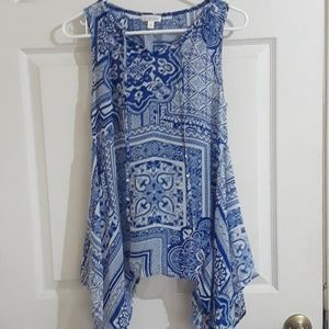 Charming charlie size small blue casual blouse